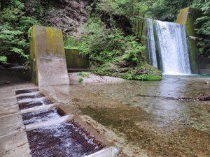 小又川水力発電所取水口